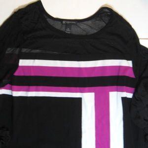 INC Color Block Tunic Top
